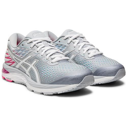 Asics GEL-Cumulus 21 Women's Running Wide D Piedmont Grey White 1012A469 020