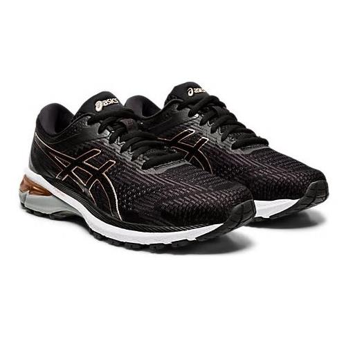 Asics GT-2000 8 Women's Running Shoe Black Rose Gold 1012A591 002
