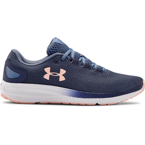 Under Armour Charged Pursuit 2 Womens Running Shoe in Blue Ink White 3022604-401
