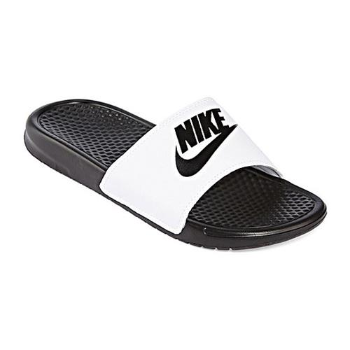 Nike Benassi JDI Mens Slide White Black 343880-100