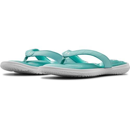 Under Armour Women's Marbella VII Sandals White Blue Haze 3022723-101