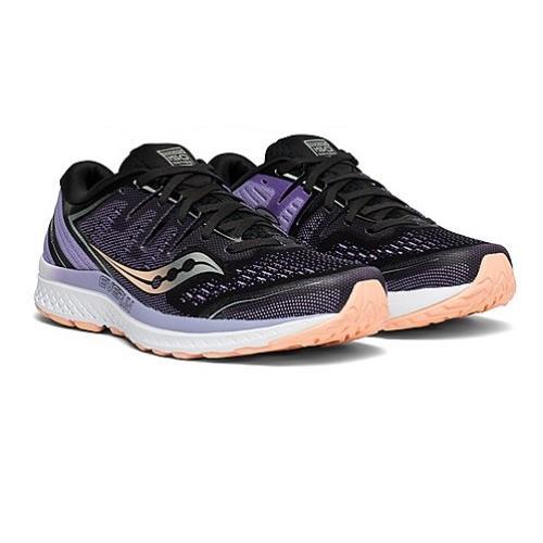Saucony Guide ISO 2 Women's Running Black Purple S10464-37