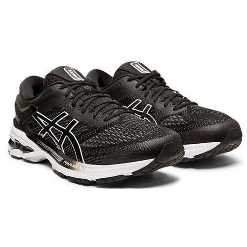 Asics Gel Kayano 26 Men's Running Shoe Black White 1011A541 001