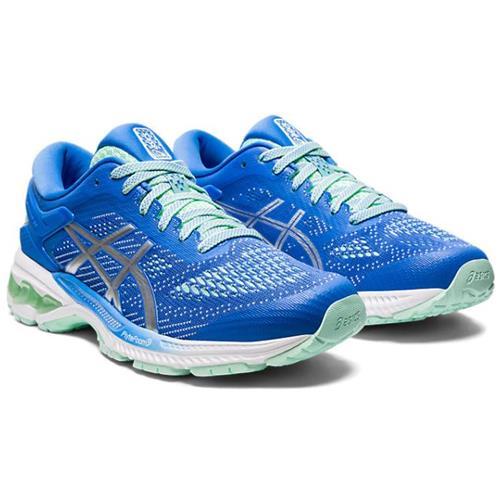 Asics Gel Kayano 26 Women's Running Shoe Blue Coast Pure Silver 1012A457 401