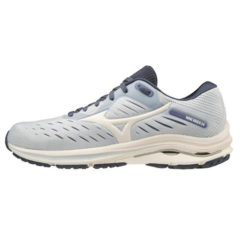 Mizuno Wave Rider 24 Women's Running Arctic Ice-Snow White 411228.570D