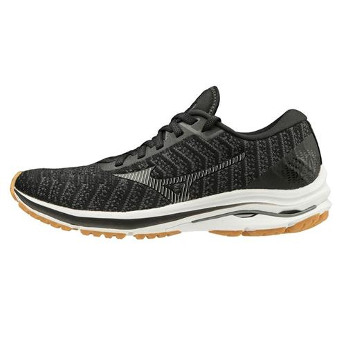 Mizuno Wave Rider 24 Waveknit Women's Running Black-Dark Shadow 411229.9098