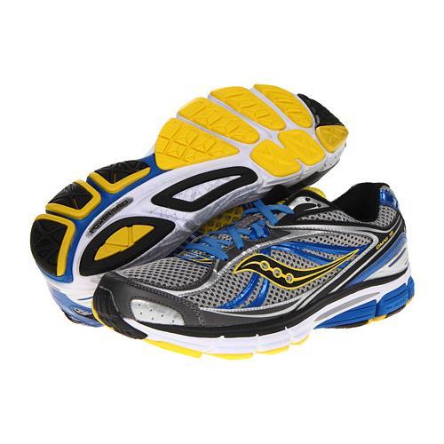Saucony ProGrid Omni 12 Men's Running Wide EE Gray Blue Yellow 20207-2