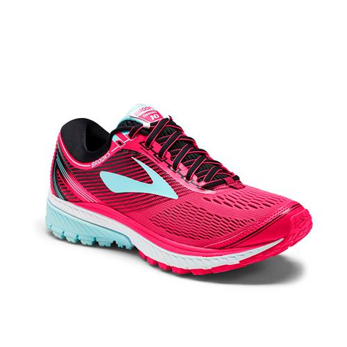 Brooks Ghost 10 Women's Running Diva Pink Black Iceland Blue 1202461B995