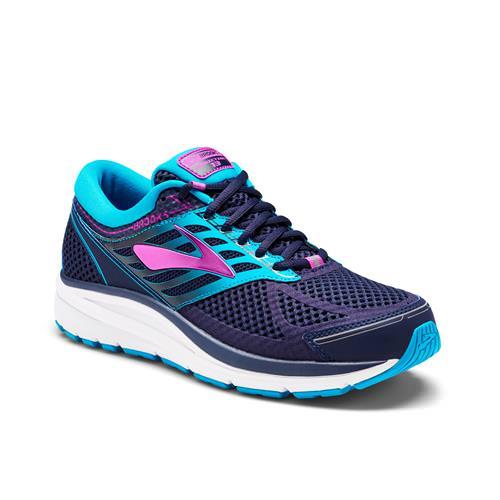 Brooks Addiction 13 Women's Running Evening Blue Teal Victory Purple Cactus Flower 1202531B456
