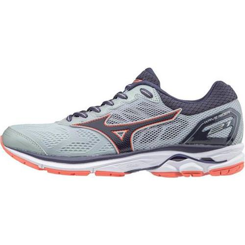 Mizuno Wave Rider 21 Women's Wide D High-Rise Graystone Persimmon 410976 9K9L
