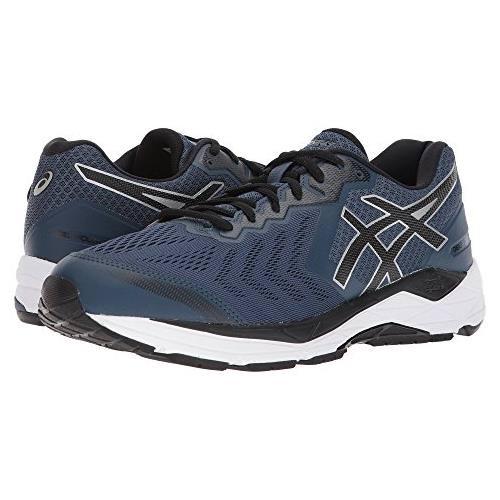 Asics Gel Foundation 13 Men's Wide 4E Running Shoe Dark Blue Black White T815N 4990