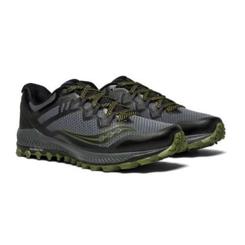Saucony Peregrine 8 Men's Trail Grey Black Green S20424-1