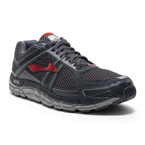 Brooks Addiction 12 Men's Running Wide 2E Anthracite High Risk Red Silver 1101962E095