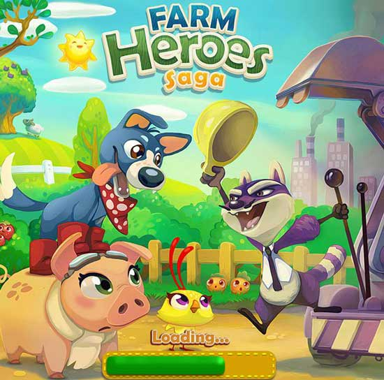 Games similar or like Candy Crush Saga -  Farm-Heroes-Saga