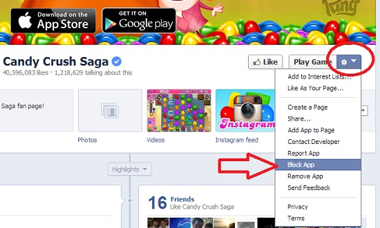 Candy Crush Saga How to disable facebook notifications 3