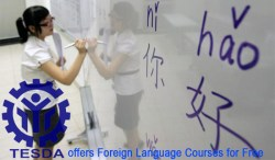TESDA offers Foreign Language Courses