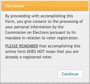 Comelec Registration