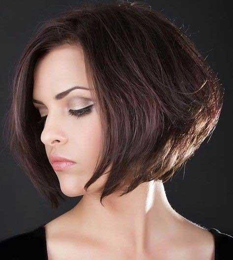 Stacked-Short-Hairstyles-Brown-Bob-Hair