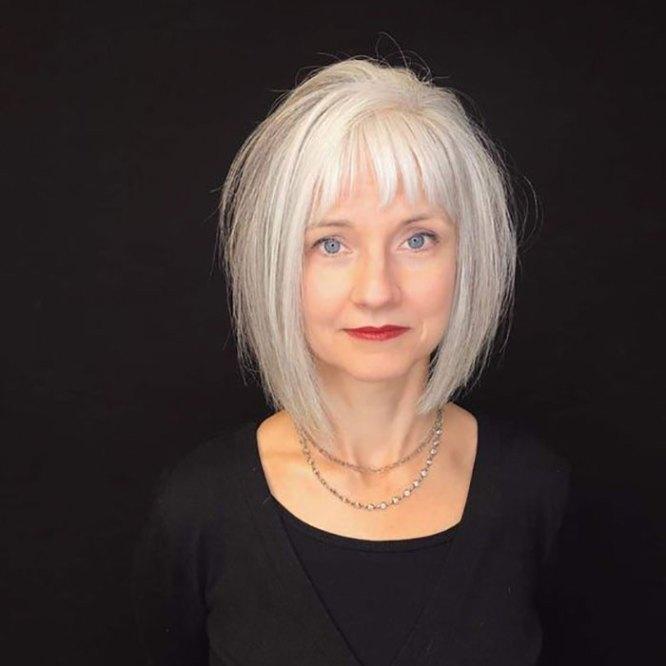frizure za starije dame zene