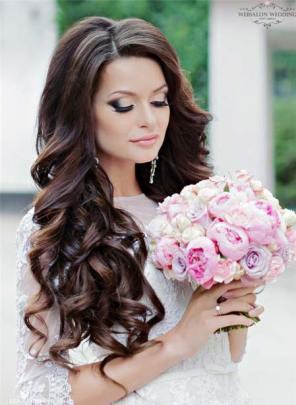 frizura za venčanje duga kosa
