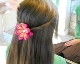 jednostavna frizura za djevojcice