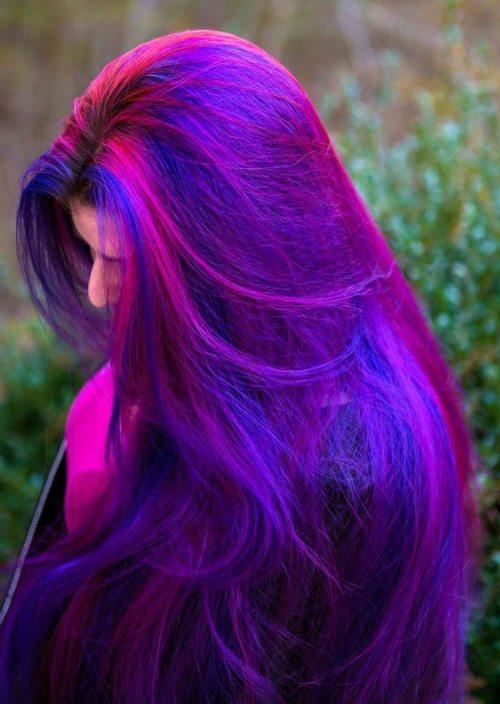 ljubicasta kosa