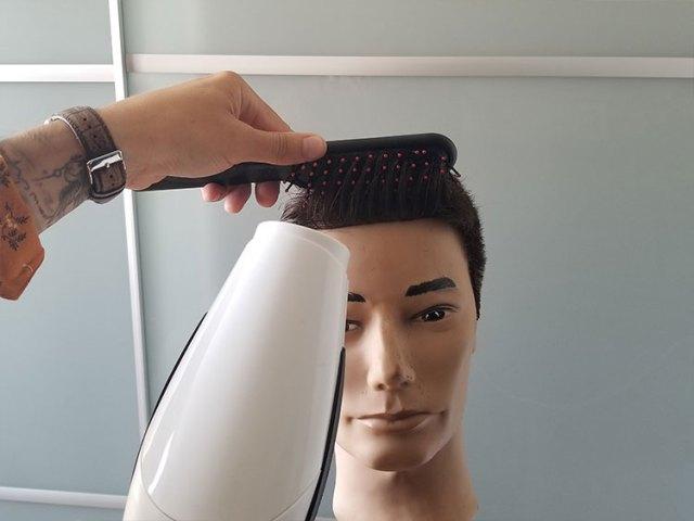 feniranje šiški muška kratka kosa