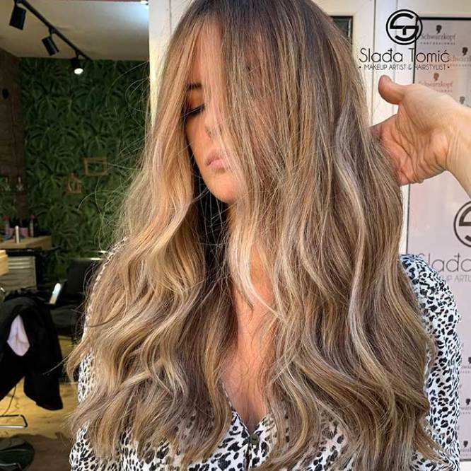 balejaž na nefarbanoj kosi