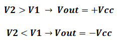 Op Amp Comparator Output
