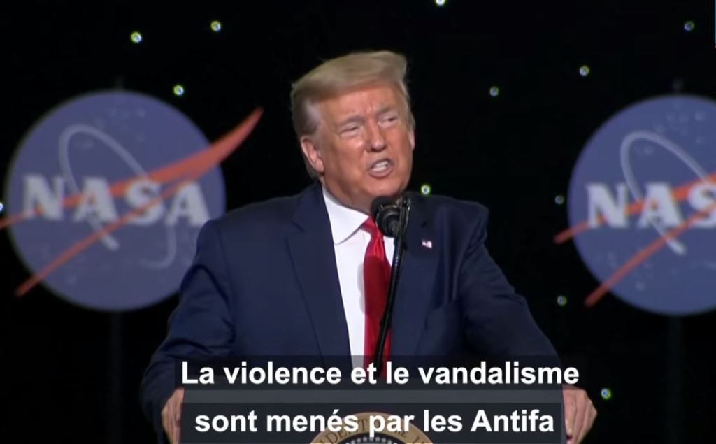 "Donald Trump veut inscrire les ""antifa"" comme une ""organisation terroriste"""