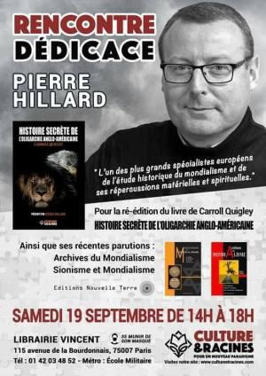 Rencontre-dédicace avec Pierre Hillard à la Librairie Vincent (Paris)