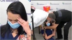 Une infirmière américaine s'évanouit après avoir reçu une injection du vaccin Pfizer