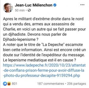 Islamo-gauchisme, complicité de terrorisme : LFI et Mélenchon pris à la gorge