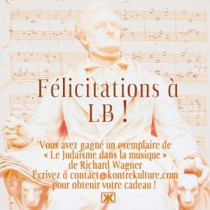 Jeu concours #7 : félicitations à LB !