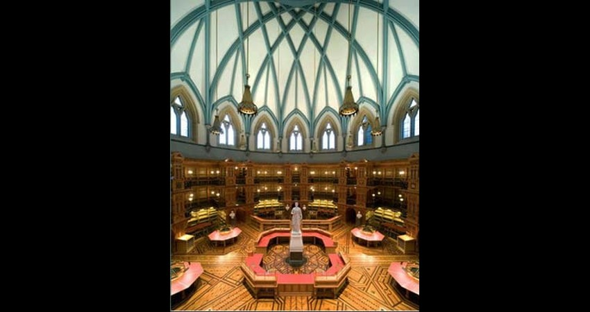 Library of Parliament Ottawa Ontario EGD Glass Restoration - Inside