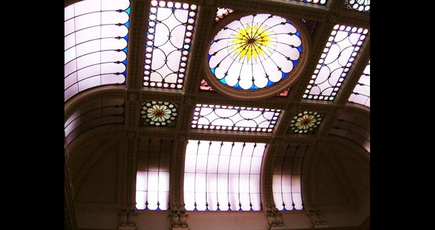 Osgoode Hall Law Society Toronto Ontario EGD Glass Restoration Stained Glass Skylight