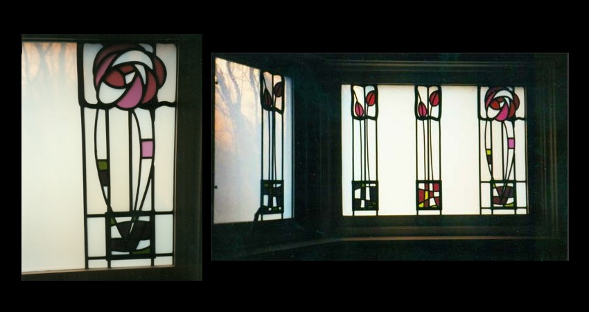 Private Residence High Park Toronto New Work Original Stained EGD Glass Staircase