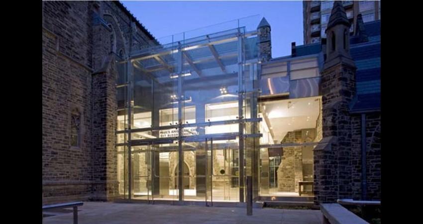 St. Paul's Anglican Church Toronto Ontario EGD Glass Restoration - Renovated Outside