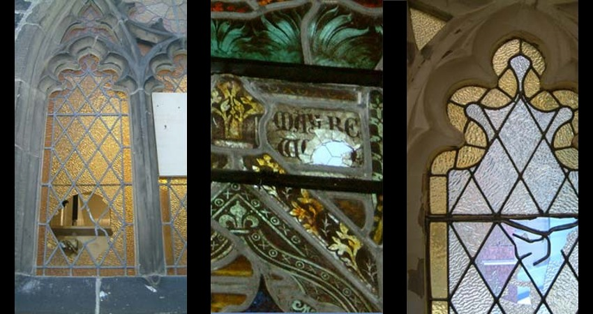 St. Paul's Anglican Church Toronto Ontario EGD Glass Restoration - Stained Glass Damage