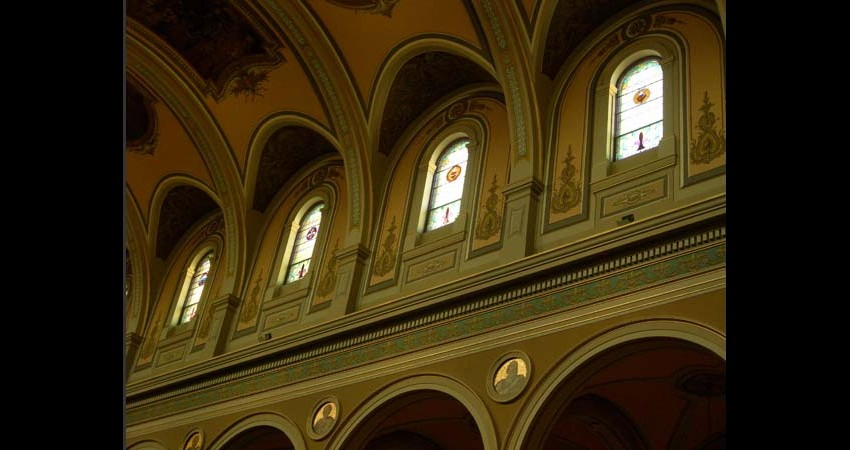 St. Paul's Basilica Toronto Ontario EGD Glass Restoration Stained Glass Clerestory windows