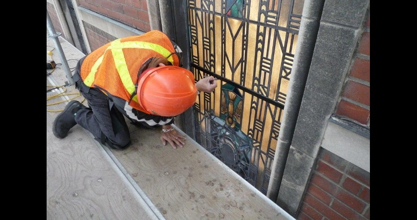 St. Michael's Hospital Toronto EGD Glass Restoration Project 6