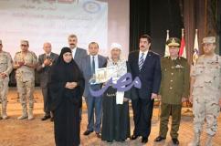 كاميرا جريدة مصر اليوم العربية تشارك جامعة بني سويف حفل تكريم أسر الشهداء  |