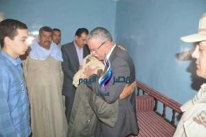 محافظ المنيا يقدم واجب العزاء لأسرة شهيد سيناء |