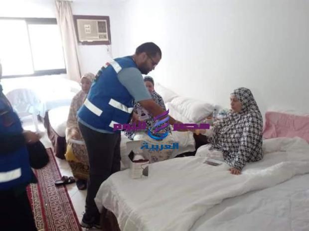25895 حاجا مصريا تستقبلهم عيادات البعثه الطبيه للحج |
