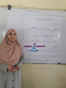 حملات توعية صحية لطلاب إدارة البساتين التعليمية بالقاهرة |
