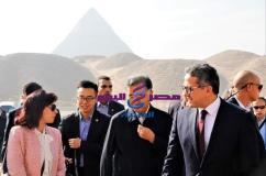السيد وانج يانج رئيس المجلس الاستشاري الصيني بمنطقة آثار الهرم