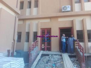 رئيس مدينة اسنا يتفقد مبنى المعهد الفني الصحي (مبنى مستشفى اسنا القديم سابقا)