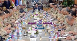 اجتماع الرئيس بقيادات القوات المسلحه اليوم | اجتماع