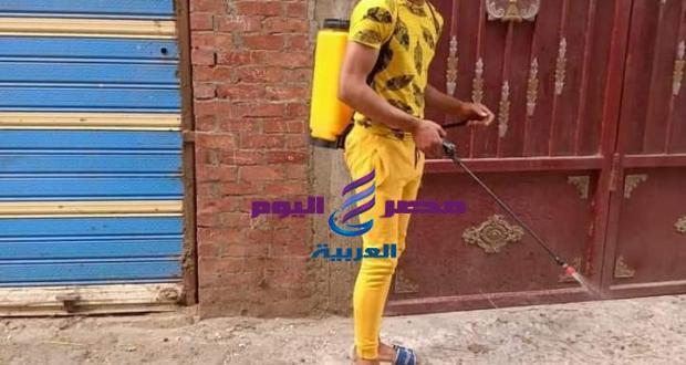 جهود الاهالي في عمليات تطهير الشوارع والمنازل بقري منية النصر | جهود الاهالي