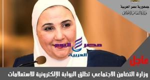 وزارة التضامن الاجتماعي تطلق البوابة الإلكترونية   وزارة التضامن الاجتماعي